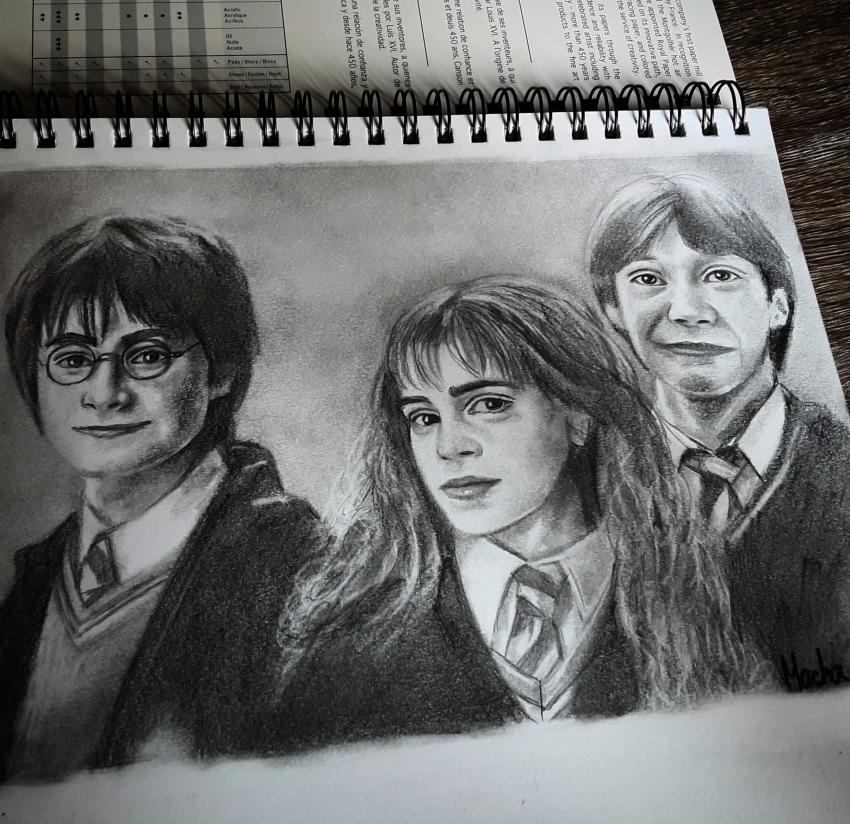 Rupert Grint, Emma Watson, Daniel Radcliffe par Macha